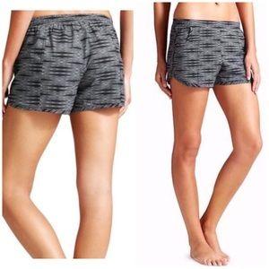 Athleta black patterned beach shorts Medium